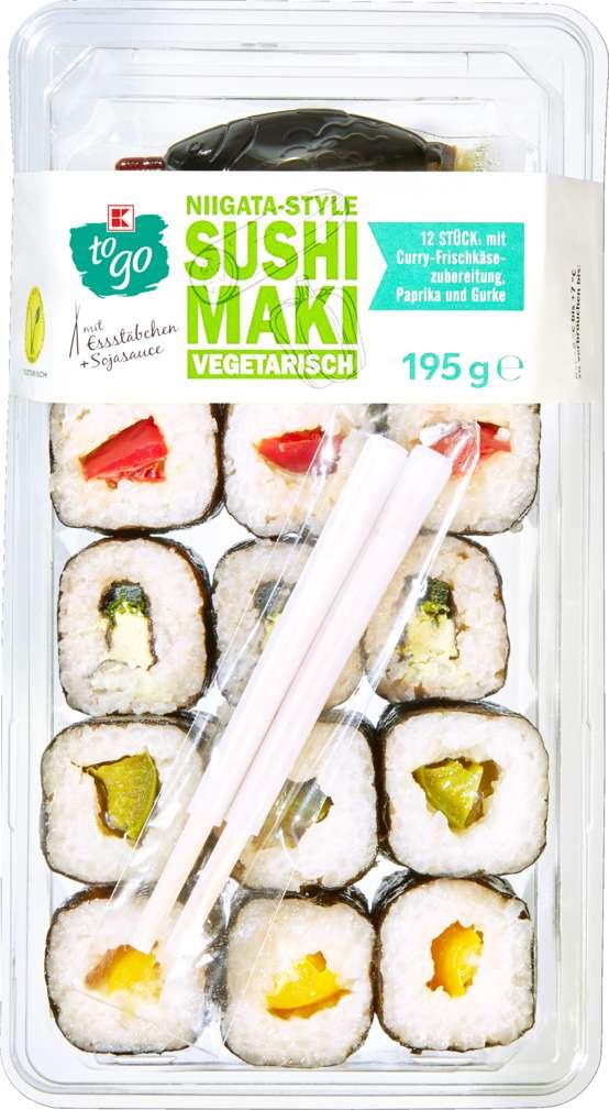 Abbildung des Sortimentsartikels K-To Go Sushi vegetarisch 190g