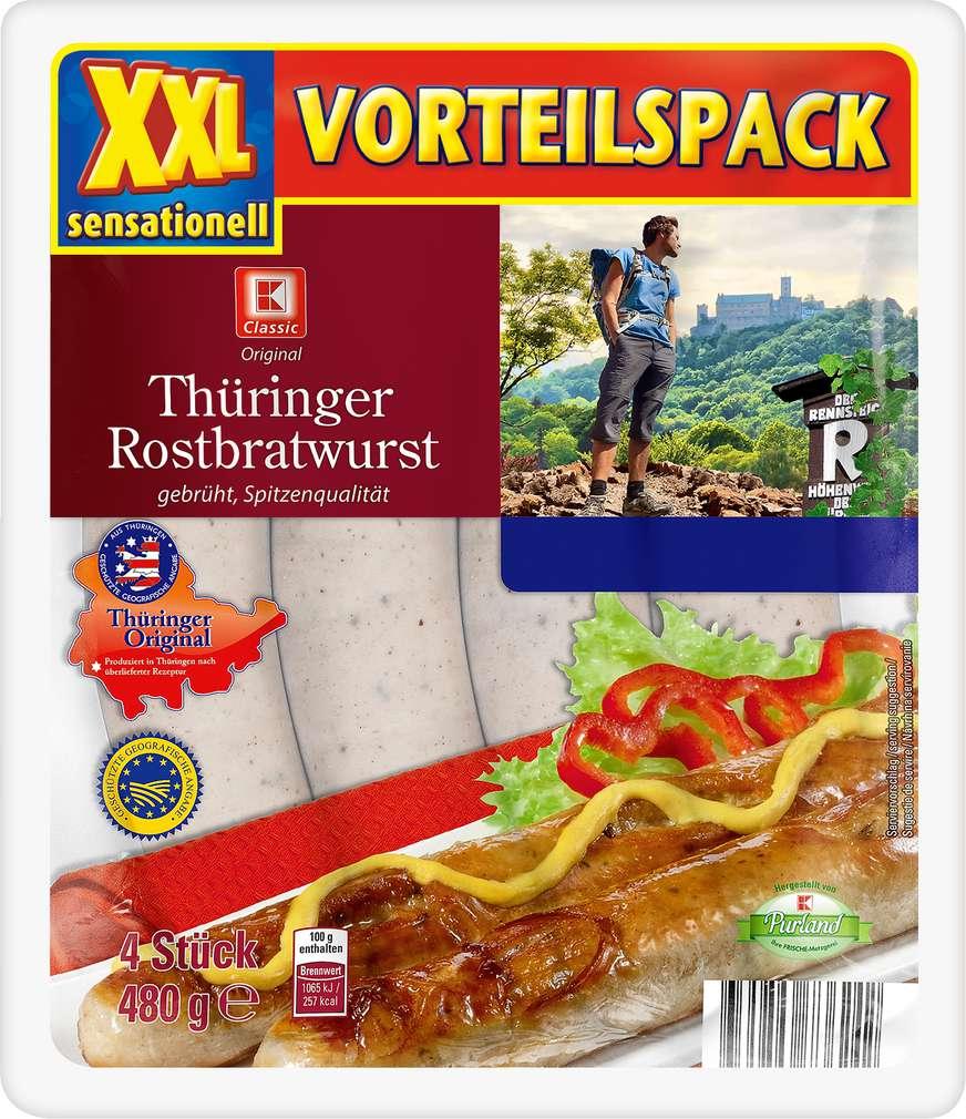 Abbildung des Sortimentsartikels K-Classic Thüringer Rostbratwurst XXL 4x120g