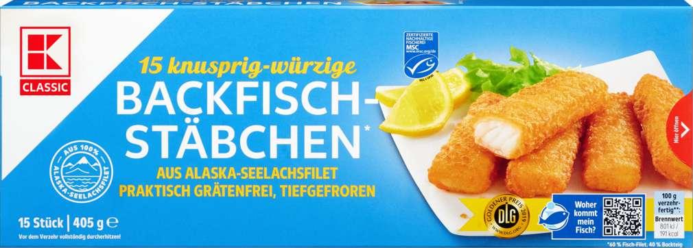 Abbildung des Sortimentsartikels K-Classic Backfisch-Stäbchen 405g