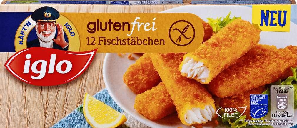 Abbildung des Sortimentsartikels Iglo Fischstäbchen glutenfrei 360g, 12 Stück