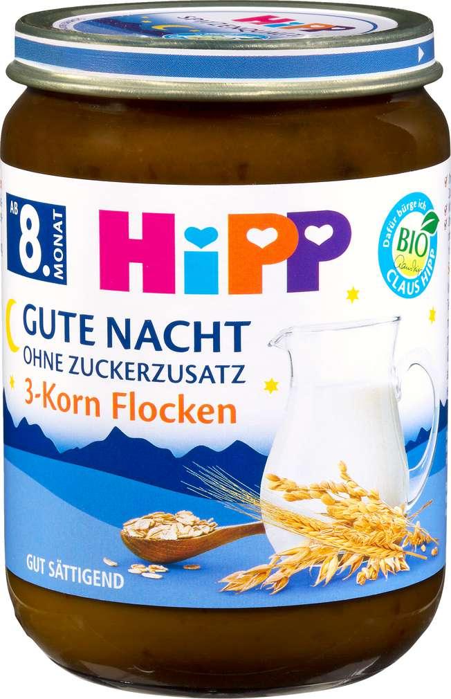 Abbildung des Sortimentsartikels Hipp Gute Nacht Bio 3-Korn Flocken ab dem 8.Monat 190g