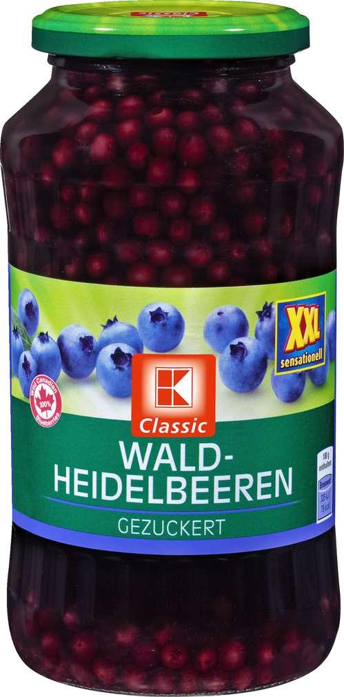 Abbildung des Sortimentsartikels K-Classic Heidelbeeren gezuckert XXL 720ml
