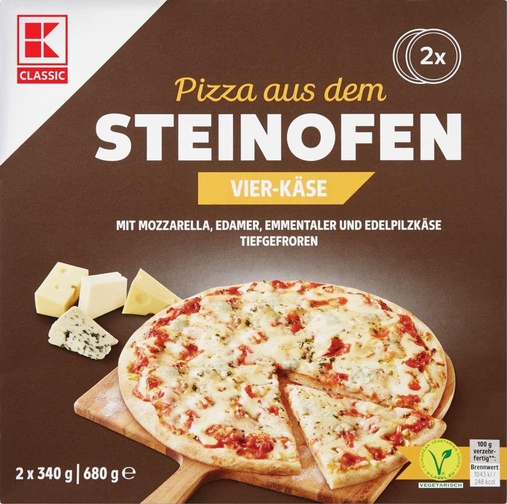 Abbildung des Sortimentsartikels K-Classic Steinofen-Pizza 4-Käse 2x340g