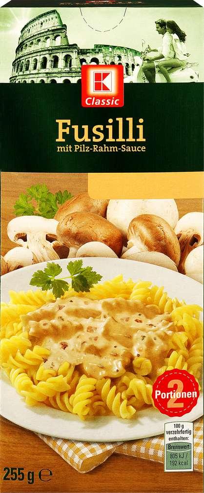 Abbildung des Sortimentsartikels K-Classic Fusilli Pilz Rahm Sauce 255g