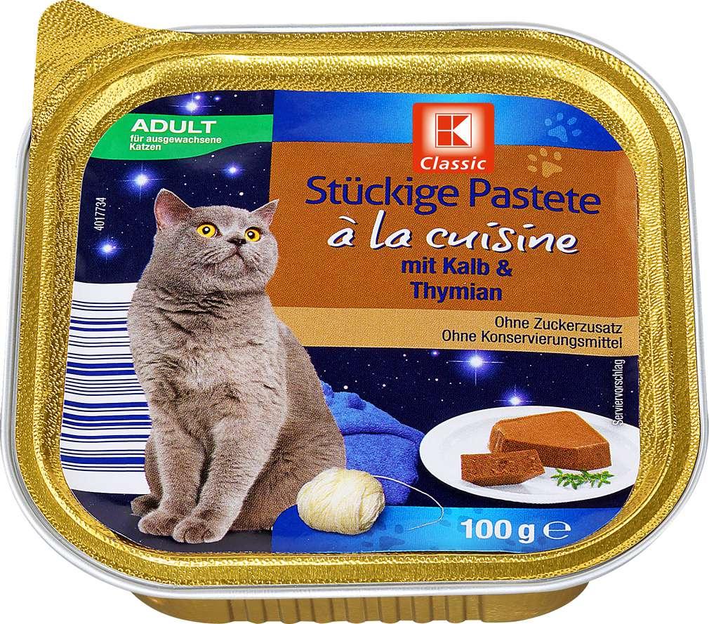 Abbildung des Sortimentsartikels K-Classic Katzennahrung Kalbspastete+Thymian 100g