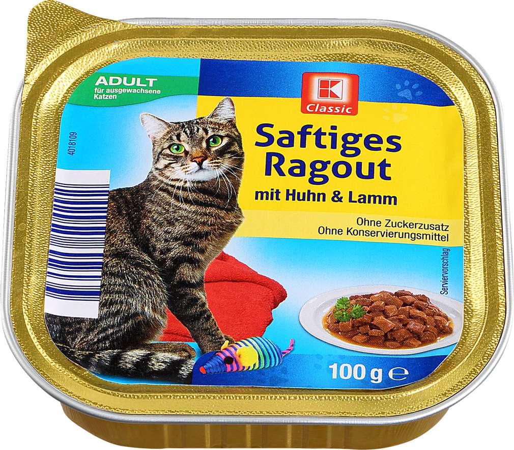Abbildung des Sortimentsartikels K-Classic Katzennahrung Huhn+Lamm 100g