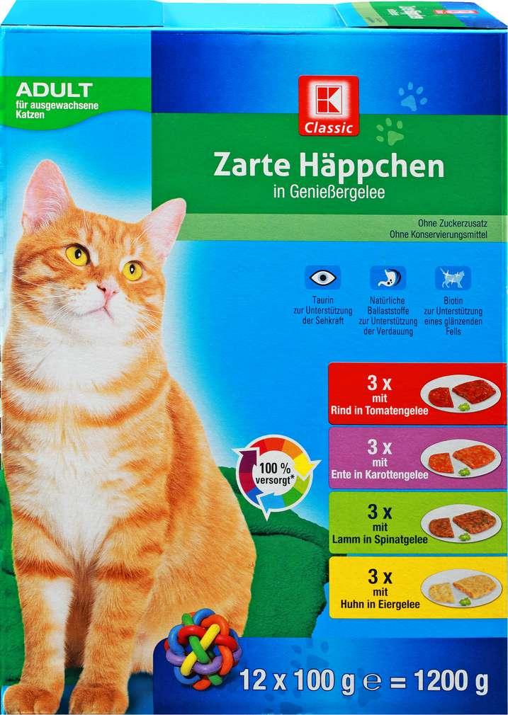 Abbildung des Sortimentsartikels K-Classic K-Classic Katzennahrung Gemüsegelee Multip. 12x100g