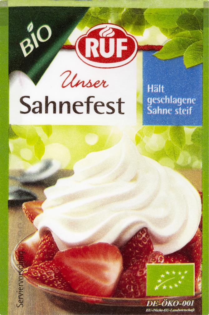 Abbildung des Sortimentsartikels Ruf Bio Unser Sahnefest 4x8g