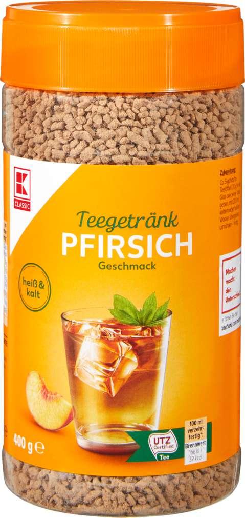 Abbildung des Sortimentsartikels K-Classic Teegetränk Pfirsich 400g