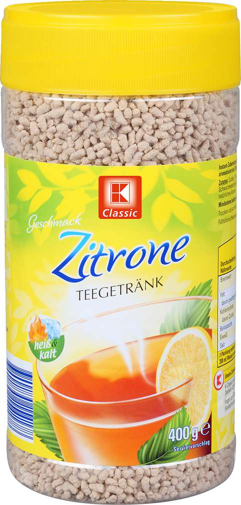 Abbildung des Sortimentsartikels K-Classic Teegetränk Zitrone 400g