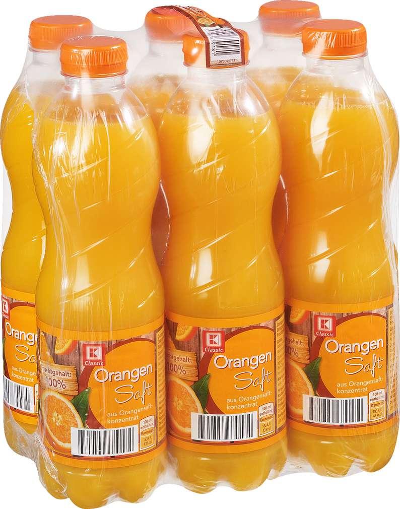 Abbildung des Sortimentsartikels K-Classic Orangensaft 6x1,0l