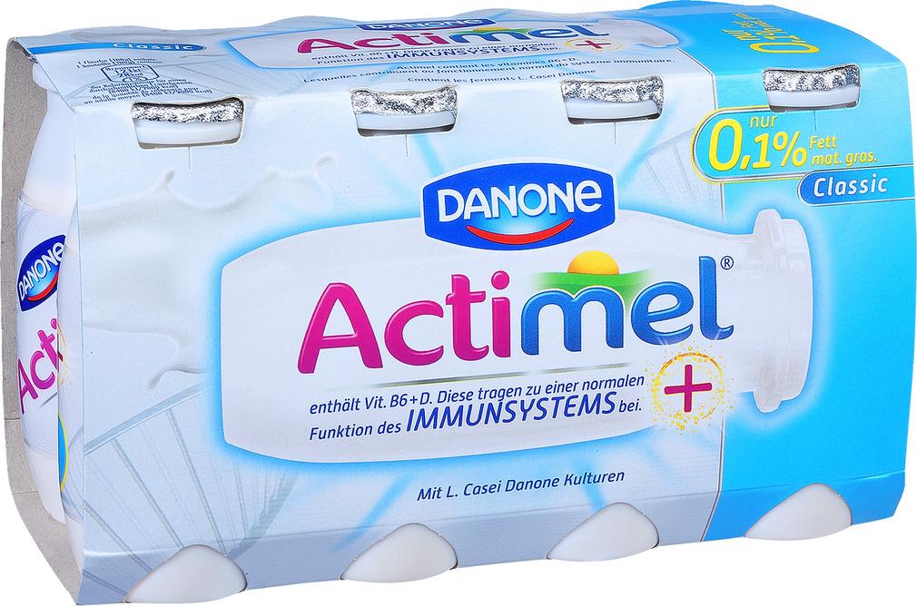Abbildung des Sortimentsartikels Danone Actimel 0,1% Fett Classic 8x100g