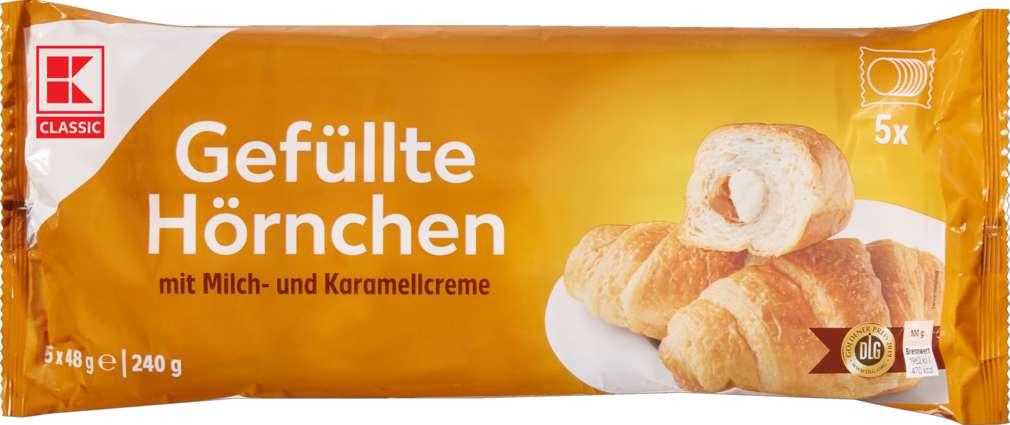 Abbildung des Sortimentsartikels K-Classic Gefüllte Hörnchen Karamell 240g