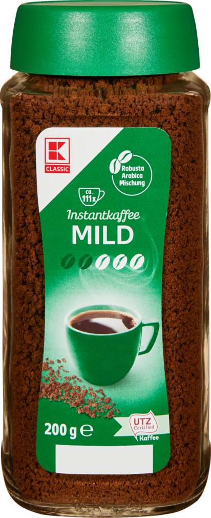 Abbildung des Sortimentsartikels K-Classic Instant Kaffee Mild 200g