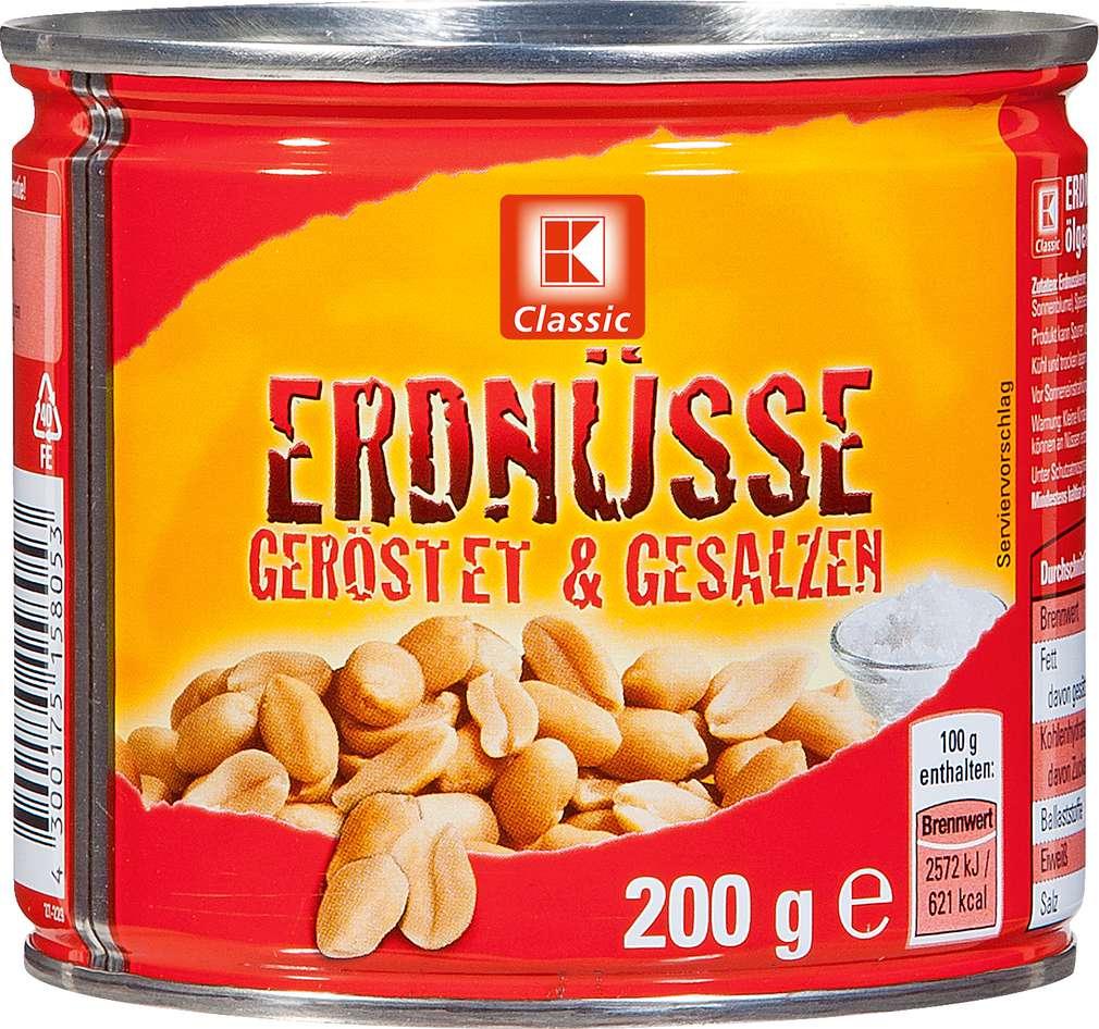 Abbildung des Sortimentsartikels K-Classic Erdnüsse geröstet & gesalzen 200g