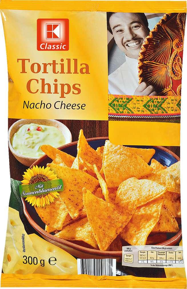 Abbildung des Sortimentsartikels K-Classic Tortilla Chips Nacho Cheese 300g