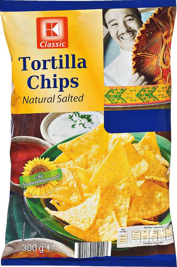 Abbildung des Sortimentsartikels K-Classic Tortilla Chips Natural Salted 300g