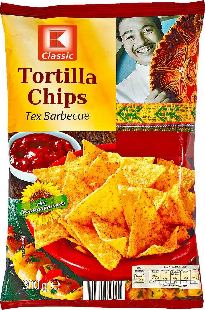 Abbildung des Sortimentsartikels K-Classic Tortilla Chips Tex Barbecue 300g