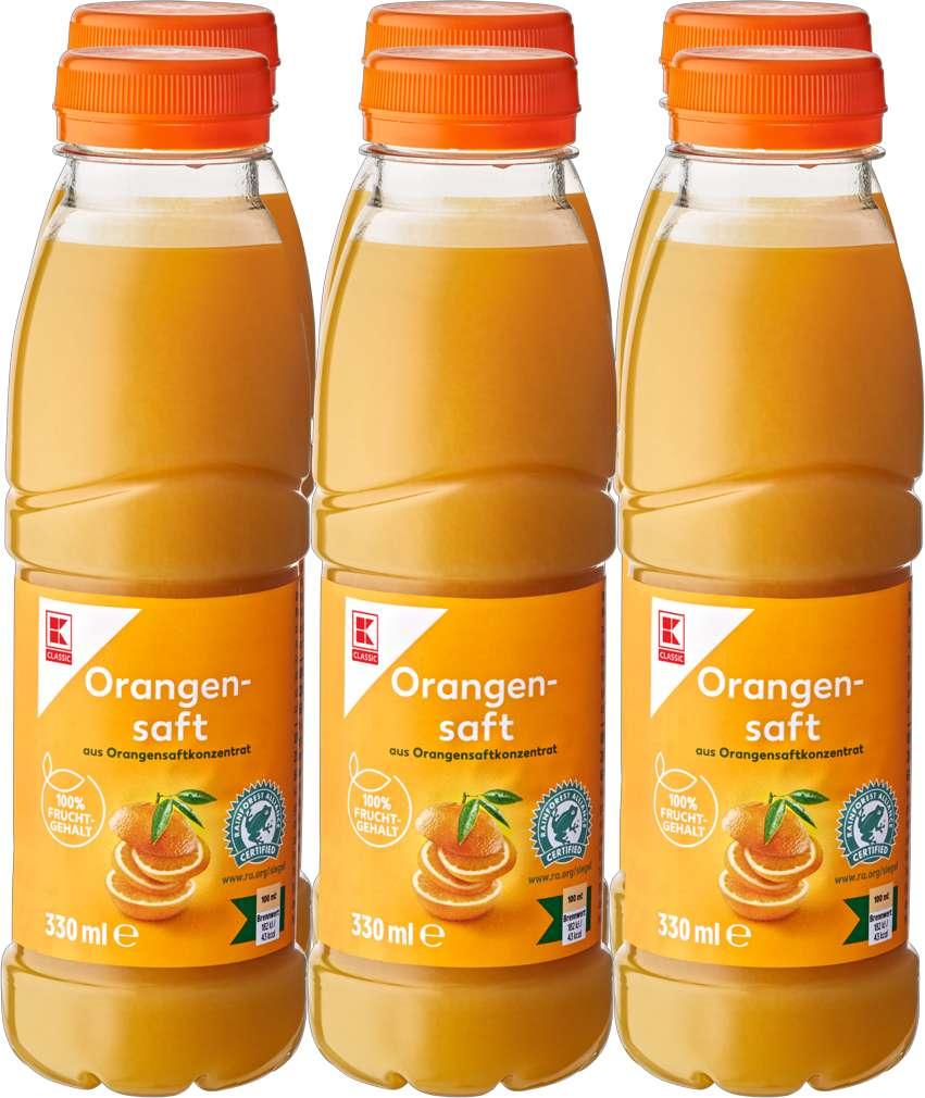 Abbildung des Sortimentsartikels K-Classic Orangensaft 6x0,33l