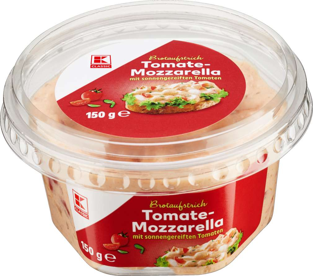 Abbildung des Sortimentsartikels K-Classic Brotaufstrich Tomate-Mozzarella 150g