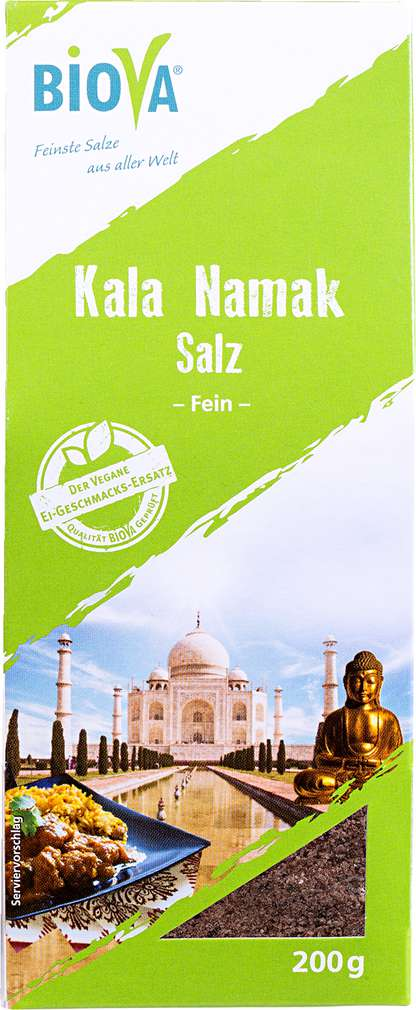 Abbildung des Sortimentsartikels Biova Kala Namak Salz fein 200g