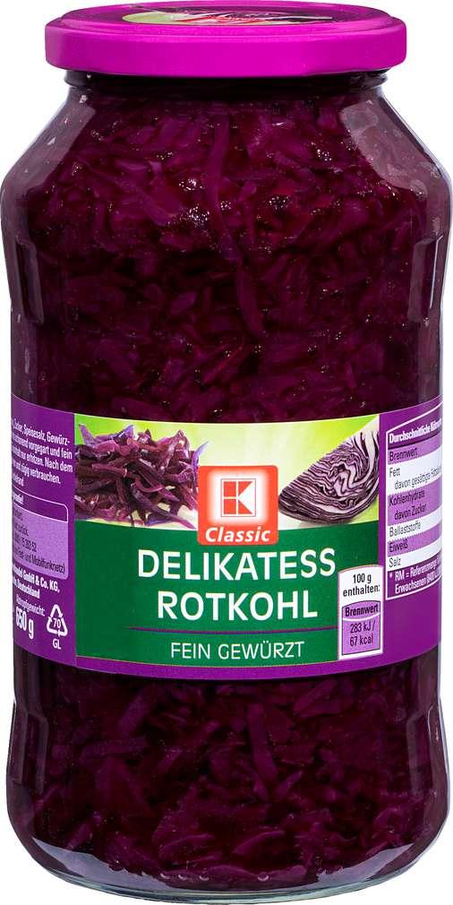 Abbildung des Sortimentsartikels K-Classic Delikatess Rotkohl 720ml