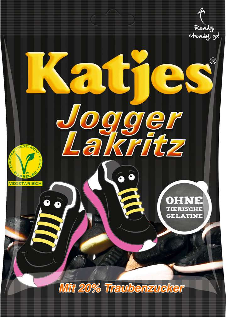 Abbildung des Sortimentsartikels Katjes Jogger Lakritz 200g