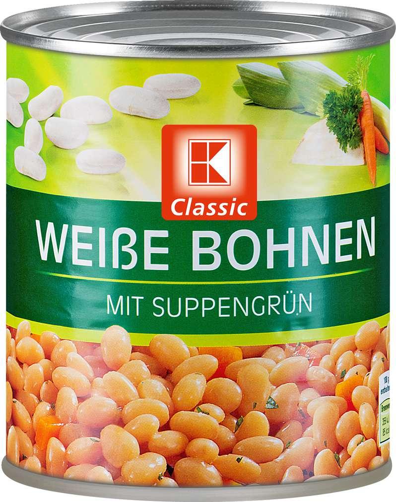 Abbildung des Sortimentsartikels K-Classic Weiße Bohnen mit Suppengrün 800g