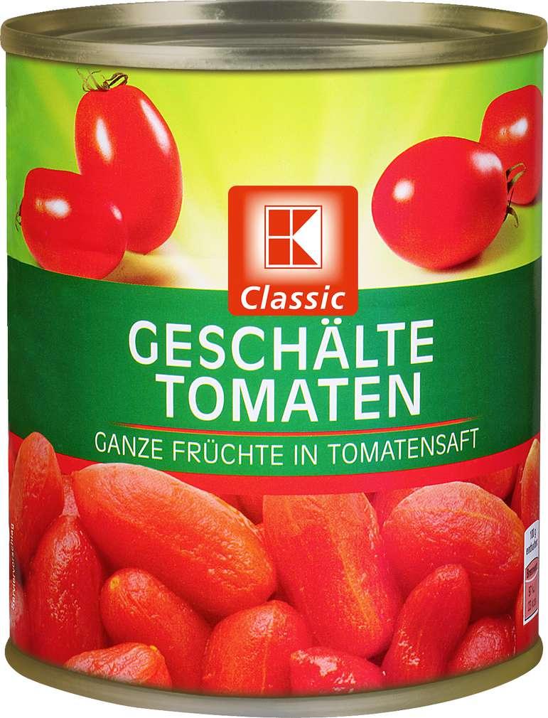 Abbildung des Sortimentsartikels K-Classic Geschälte Tomaten 850ml
