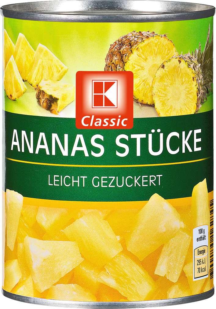 Abbildung des Sortimentsartikels K-Classic Ananas Stücke 580ml