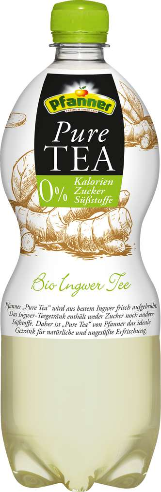 Abbildung des Sortimentsartikels Pfanner Bio Pure Tea Ingwer 1,0l