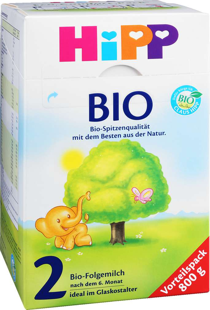 Abbildung des Sortimentsartikels Hipp Bio Folgemilch 2 800g