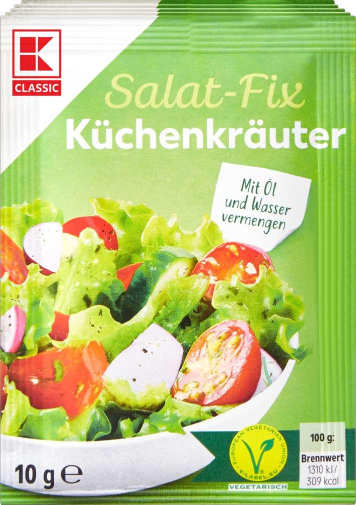 Abbildung des Sortimentsartikels K-Classic Fix für Salatsauce Küchenkräuter 5x10g