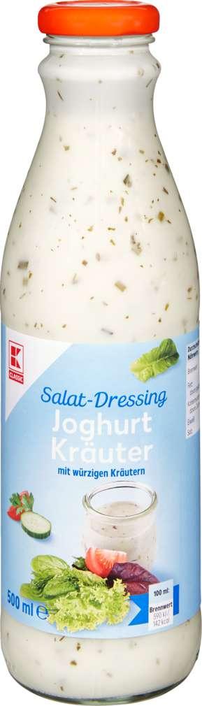 Abbildung des Sortimentsartikels K-Classic Salatdressing Joghurt/Kräuter 500ml