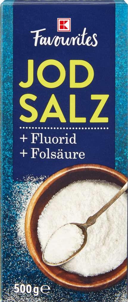 Abbildung des Sortimentsartikels K-Favourites Jodsalz mit Fluorid und Folsäure 500g