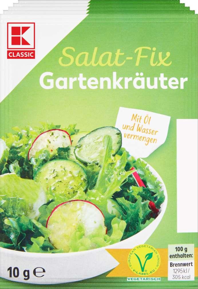 Abbildung des Sortimentsartikels K-Classic Fix für Salatsauce Gartenkräuter 5x10g
