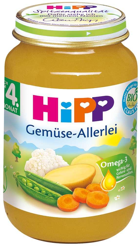 Abbildung des Sortimentsartikels Hipp Gemüse-Allerlei 190g