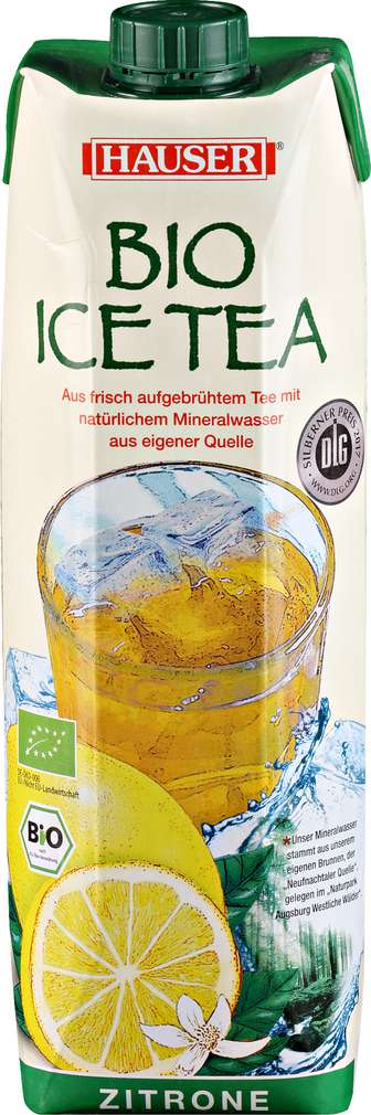Abbildung des Sortimentsartikels Hauser Bio Ice Tea Zitrone 1l