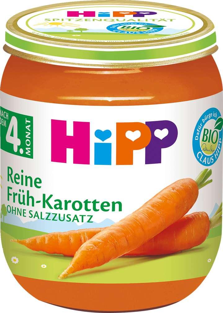 Abbildung des Sortimentsartikels Hipp Bio Reine Früh-Karotten 125g