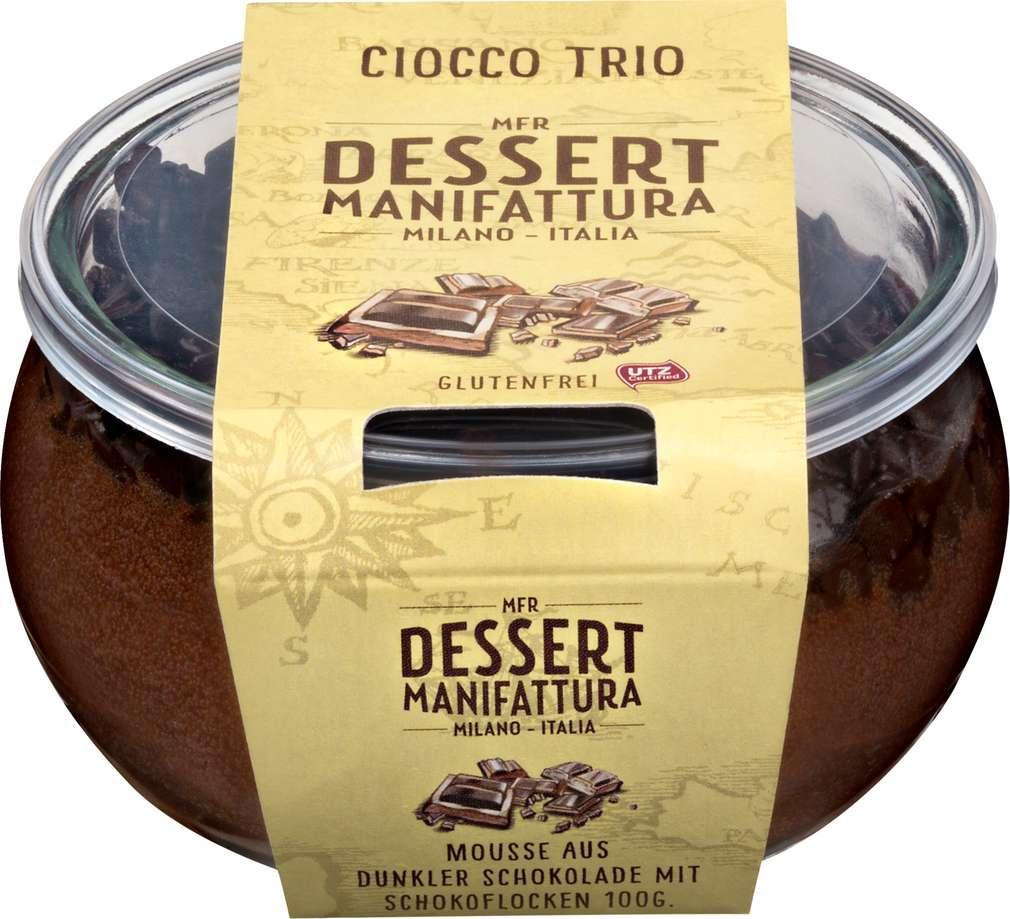 Abbildung des Sortimentsartikels Dessert Manufaktur Ciocco Trio Dessert100g