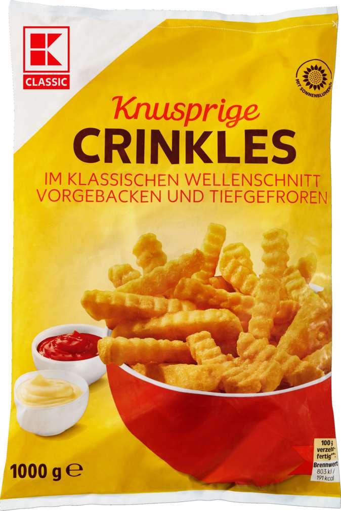 Abbildung des Sortimentsartikels K-Classic Pommes Crinkles für den Backofen 1000g