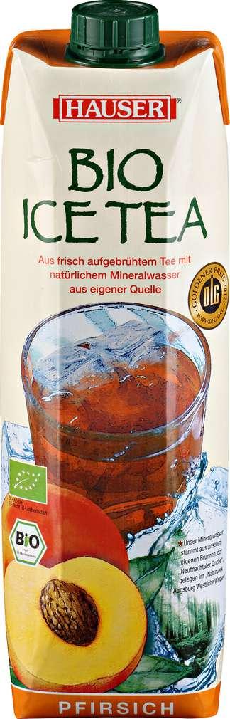 Abbildung des Sortimentsartikels Hauser Bio Ice Tea Pfirsich 1l