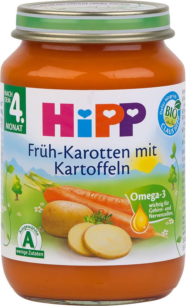 Abbildung des Sortimentsartikels Hipp Früh-Karotten mit Kartoffeln 190g