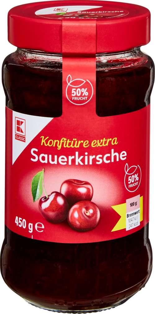 Abbildung des Sortimentsartikels K-Classic Sauerkirsch Konfitüre extra 450g