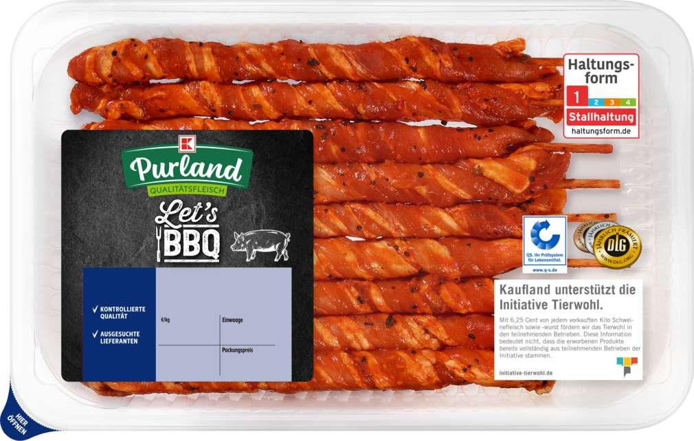 Abbildung des Sortimentsartikels K-Purland Grillfackeln vom Schweinebauch mariniert 400g