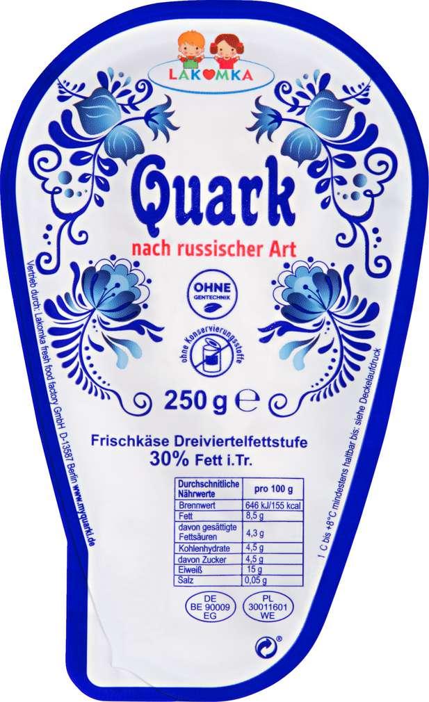Abbildung des Sortimentsartikels Lakomka Quark nach russischer Art 250g