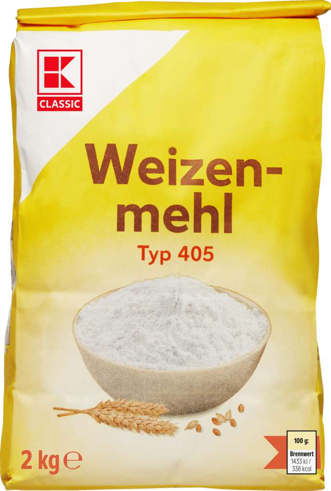 Abbildung des Sortimentsartikels K-Classic Weizenmehl Type 405 2kg