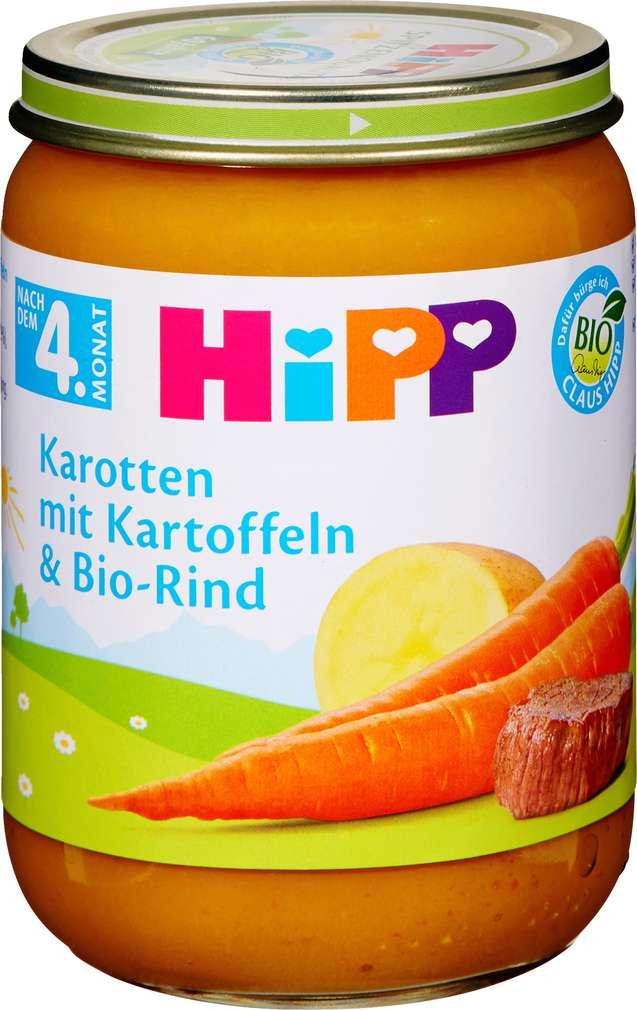 Abbildung des Sortimentsartikels Hipp Karotten mit Kartoffeln und Bio-Rind 190g