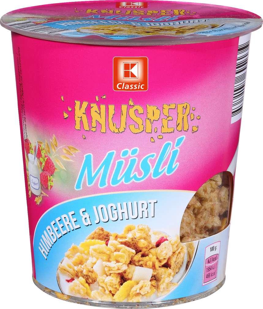 Abbildung des Sortimentsartikels K-Classic Knusper Müsli Becher Himbeere & Joghurt 85g
