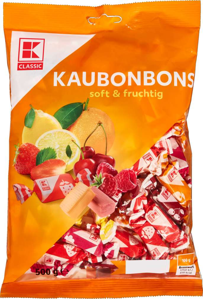 Abbildung des Sortimentsartikels K-Classic Kaubonbon Soft & Fruchtig 500g